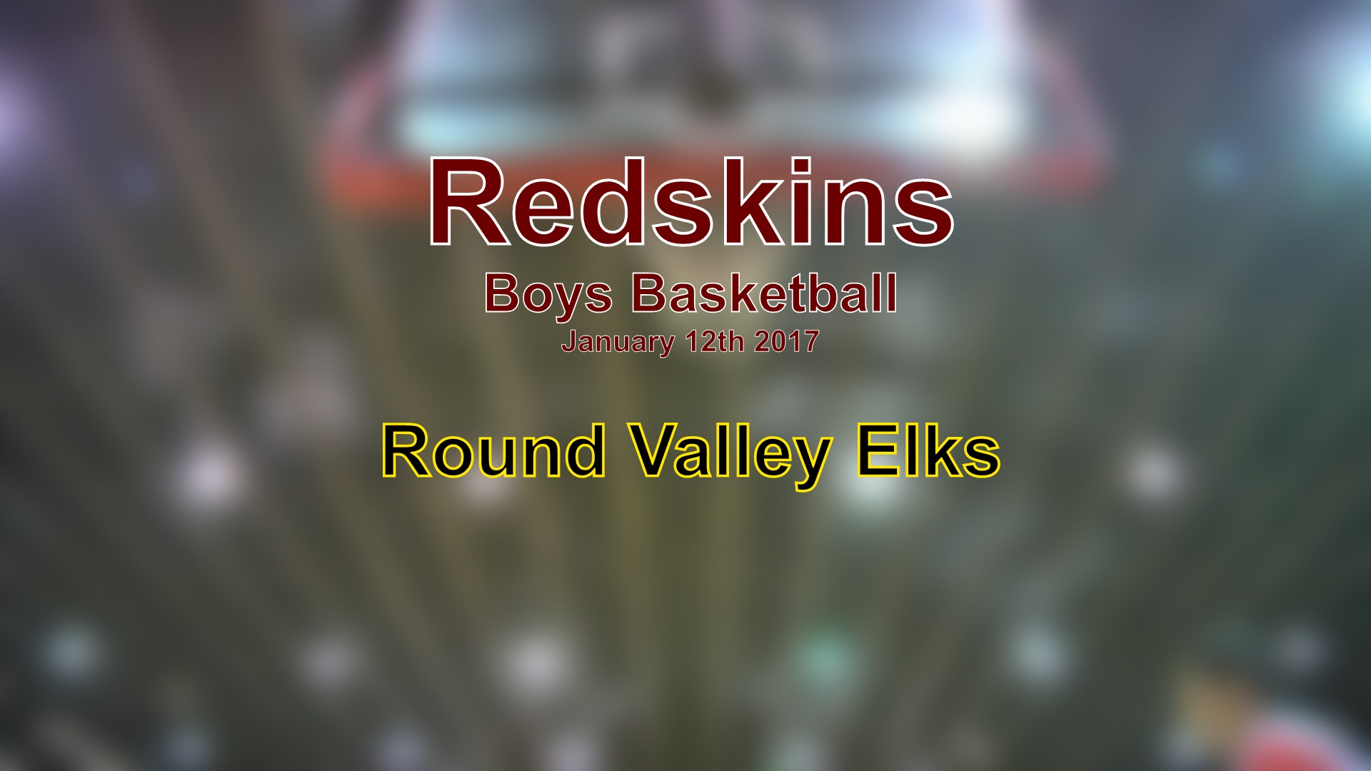 2017 Boys Basketball - Round Valley