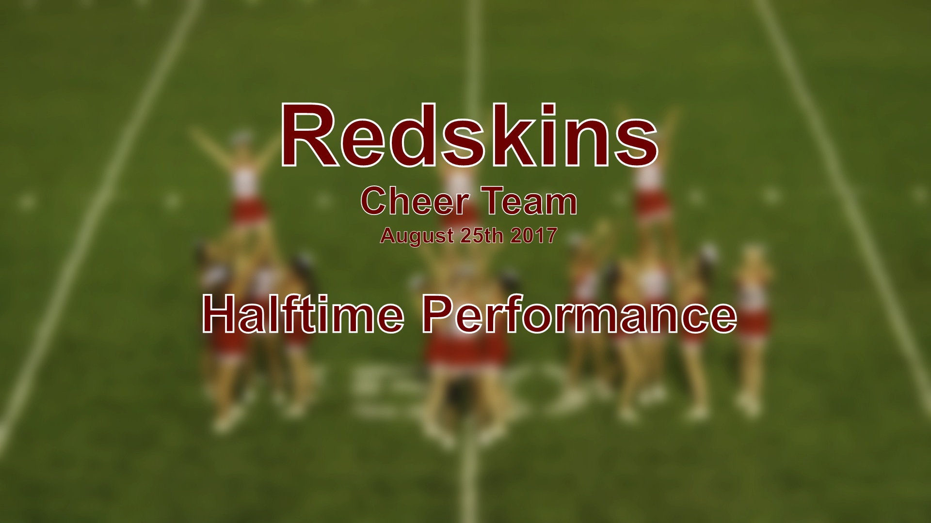 2017 Cheer Football Halftime Performance Red Rock