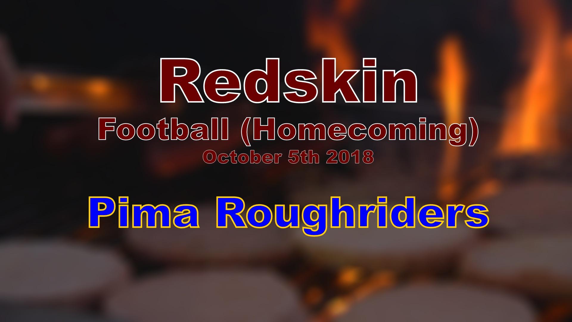 2018 Football - Pima (Homecoming)