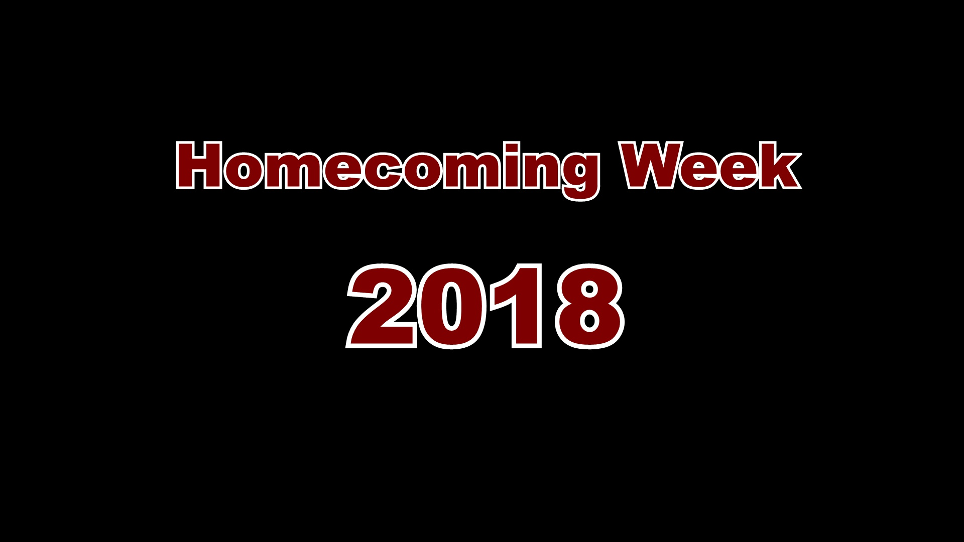 2018 Homecomeing Week